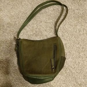 Great American leatherworks purse olive green